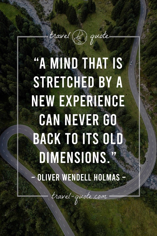 A mind that is stretched by a new experience can never go back to its old dimensions. - Oliver Wendell Holmes