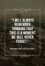 I will always remember thinking that this is a moment we will never forget.