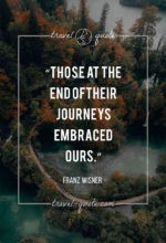 Those at the end of their journeys embraced ours.