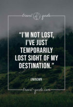 I'm not lost, I've just temporarily lost sight of my destination.